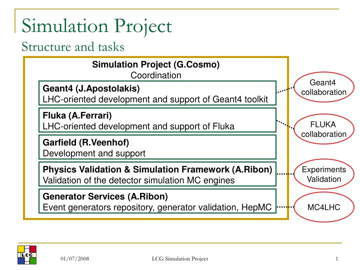 simulation project structure and tasks n.