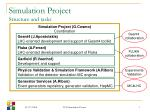simulation project structure and tasks