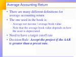 average accounting return