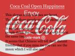 coca coal open happiness