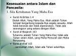 kesesuaian antara islam dan pancasila