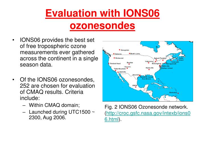 Evaluation with IONS06 ozonesondes