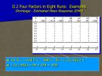 ii 2 four factors in eight runs examples shrinkage estimated mean response emr