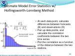 estimate model error statistics w hollingsworth lonnberg method