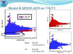 model modis aod on 7 4 11