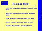 rest and relief