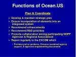 functions of ocean us