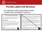 provide labels and structure
