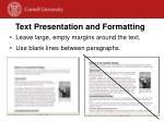 text presentation and formatting1