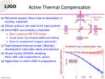 active thermal compensation