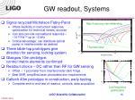 gw readout systems
