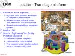 isolation two stage platform