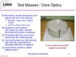 test masses core optics