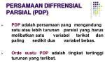 persamaan diffrensial parsial pdp