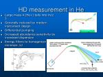 hd measurement in he