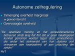 autonome zelfregulering