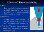 effects of time variability