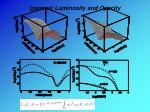 gamma luminosity and opacity