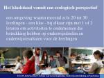 het klaslokaal vanuit een ecologisch perspectief