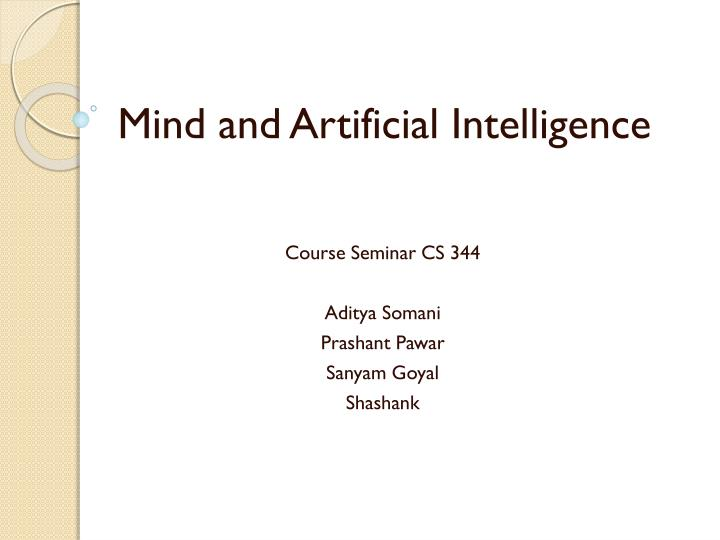 mind and artificial intelligence n.