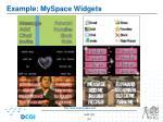 example myspace widgets