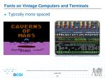 fonts on vintage computers and terminals