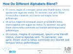 how do different alphabets blend