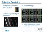 sub pixel rendering