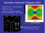 accretion induced collapse aic
