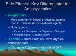 side effects key differentiator for antipsychotics7