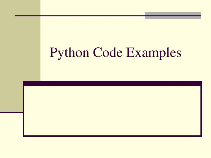 python code examples n.