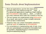 some details about implementation
