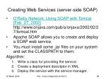 creating web services server side soap