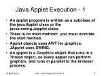 java applet execution 1