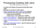 processing cookies with java java server programming wrox press