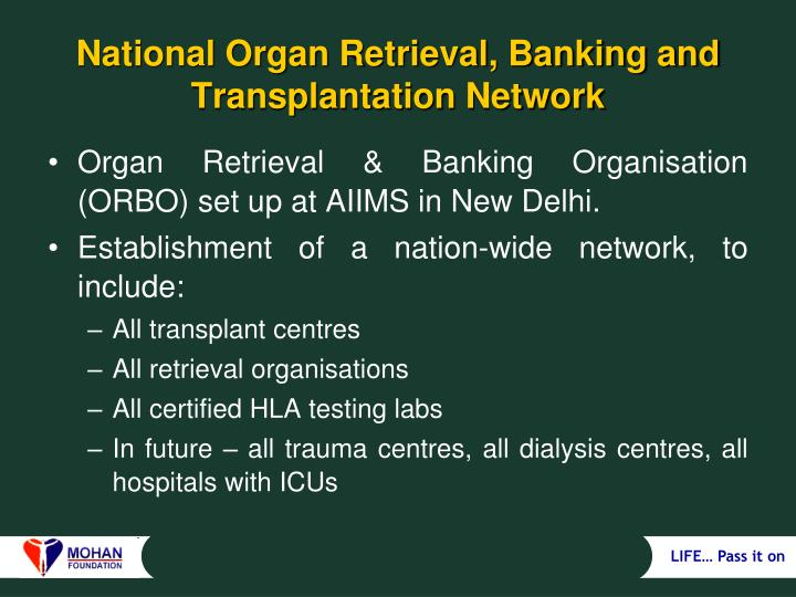 National Organ Retrieval, Banking and Transplantation Network