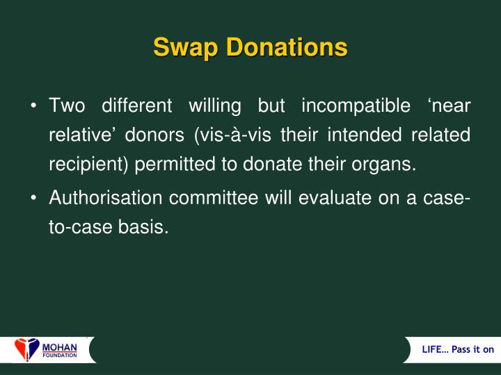Swap Donations