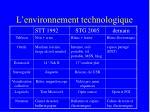 l environnement technologique3