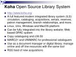 koha open source library system