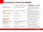 forecasting in oracle and right90