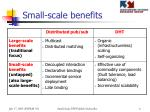 small scale benefits
