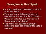 neologism as new speak