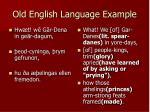 old english language example