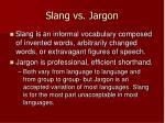 slang vs jargon