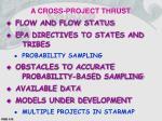 a cross project thrust