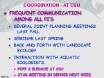 coordination at csu