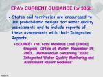 epa s current guidance for 305b