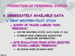 prediction of perennial status