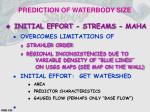 prediction of waterbody size