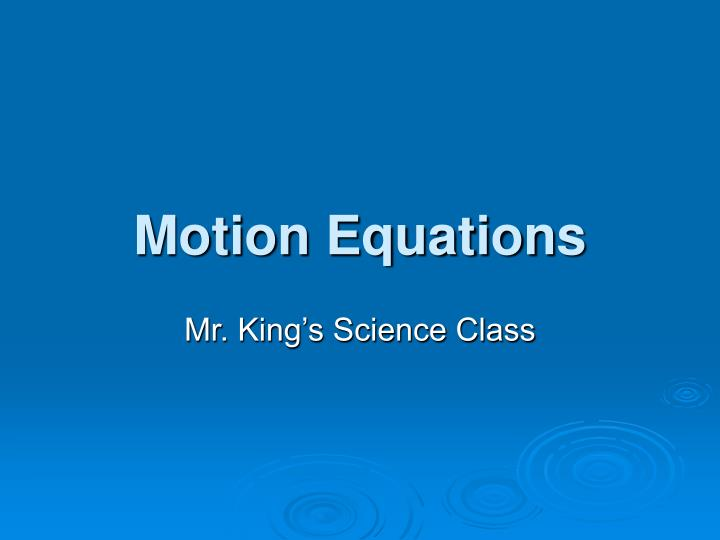 motion equations n.